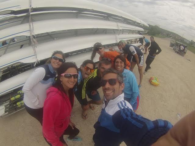 Una selfie del equipo en la previa a las regatas en Alemania.