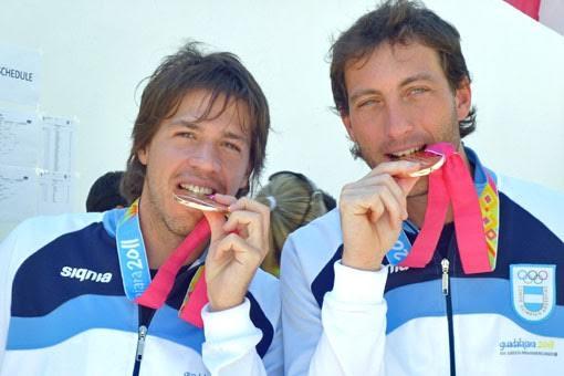 Pezzota con D'Arcangelo, cuando fue bronce en Guadalajara 2011.