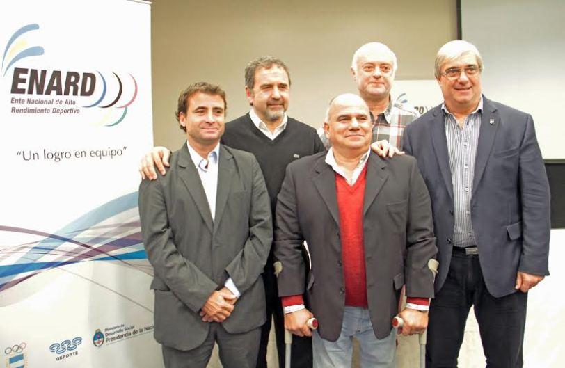 Desde la izquierda: Conte (SDN), Siffredi (Enard), Valladares (Copar), JAcubovicgh (Enard) y Moccia (COA).