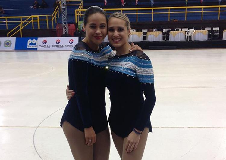 Hermanas y campeonas: Giselle (Toronto 2015) y Elizabeth (Guadalajara 2011).