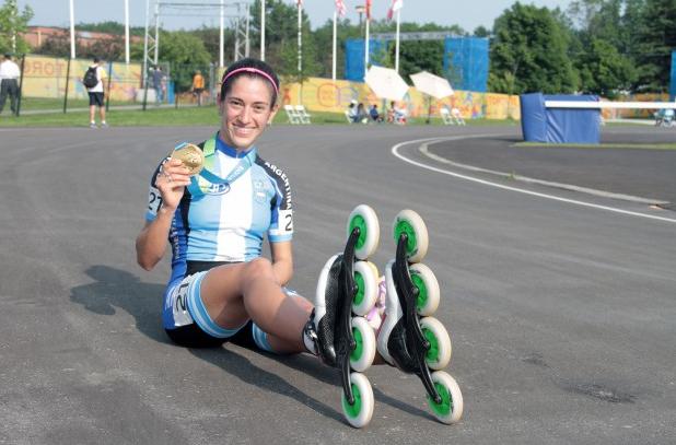 Arias consiguió el 28º del patín carrera argentino, el primero en 12 años.