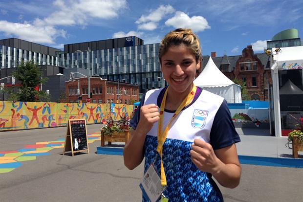 Dayana Sánchez tuvo la mejor actuación del boxeo femenino en JJ.PP.