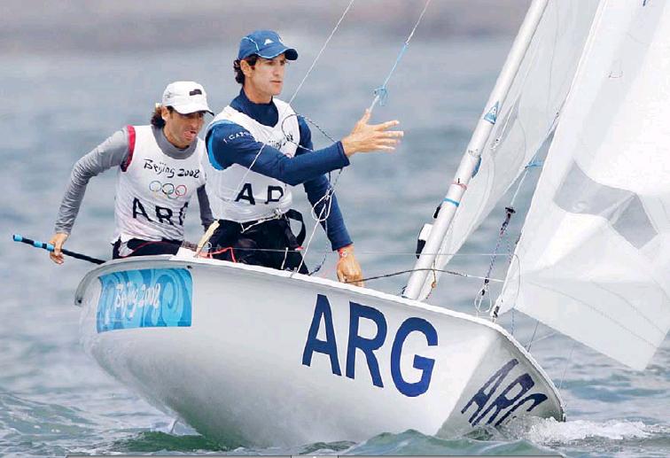 Conte al timón en su última experiencia olímpica (Pekín 2008).