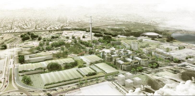 El boceto de lo que será la Villa Olímpica 2018 en Soldati.