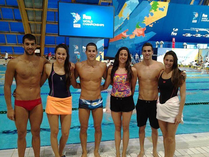 Grabich, Berrino, Grassi, Sebastián, Naidich y Bardach, juntos en Kazan.