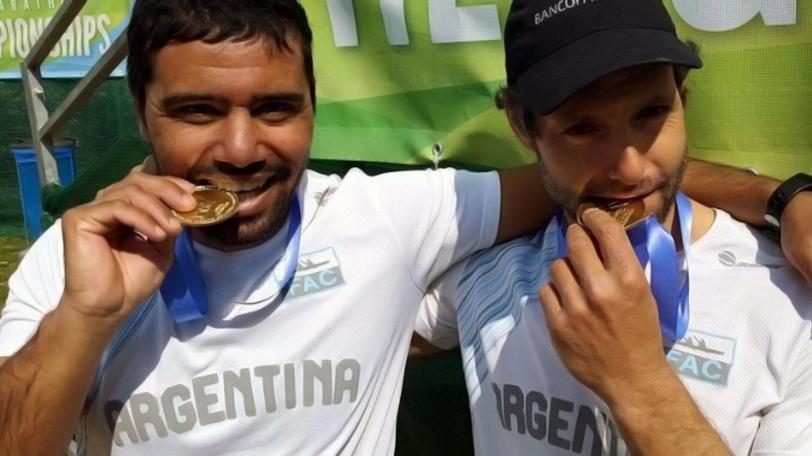 Mozzicafredo y Pinta celebraron en el K2 en los Mundiales 2012, 2014 y 2015.