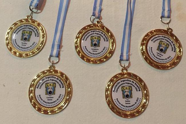 Los cinco oros que logró Rinke en el Nacional.