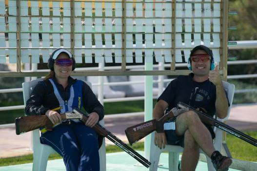 Melisa y Federico Gil, esperanza olímpica en skeet para los Juegos de Río de Janeiro 2016.