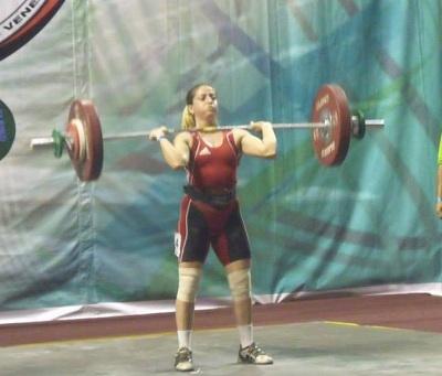 Malvina Verón compite en 58 kilis.