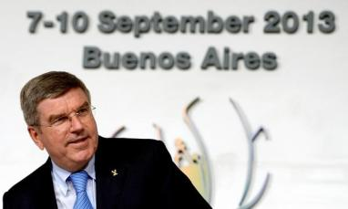 Bach fue elegido presidente del COI en Buenos Aires, hace tres años.