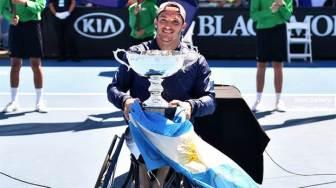 Uno de los siete títulos de Fernández: el Abierto de Australia.