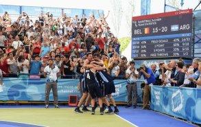 La emoción del equipo de básquet, campeón del 3x3.